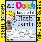 Dolch Large Print Flash Cards