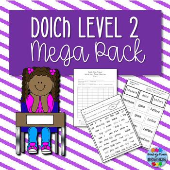 Dolch Level 2 Low Prep Mega Pack