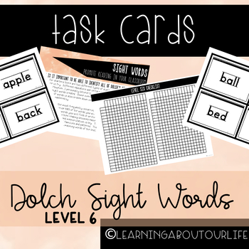 Dolch Level 6 Sight Words