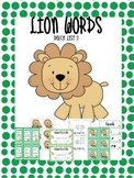 Dolch Sight Words List 2 Jungle Theme