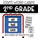 Dolch List 2nd Grade Sight Word Cards, Word Wall, Center,