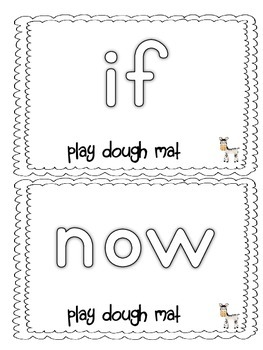 Dolch Sight Words List 4 Jungle Theme