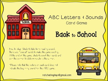Back to School Letter & Sound ID Card Game