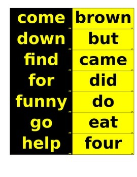 Dolch List Flashcards -color coated --72 size font