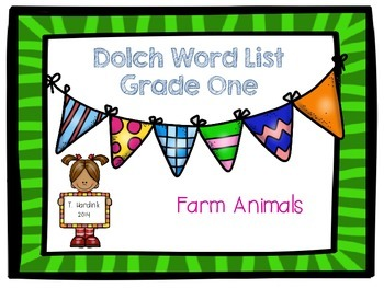 Sight Word List - Grade One - Farm Animals