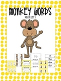 Dolch Sight Words List 1 Jungle Themed