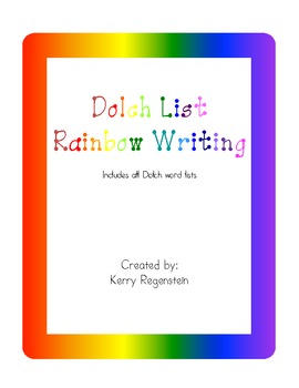 Dolch List Rainbow Writing (includes all word lists)