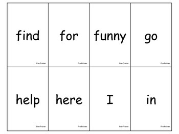 Dolch List Sight Word Flashcards and Assessments