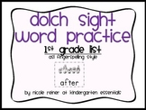 Dolch List Sight Word Practice-1st Grade