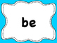 Dolch List Sight Words / High Frequency Words: Clear - A to M