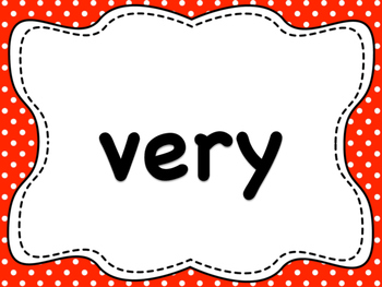 Dolch List Sight Words / High Frequency Words: Polka Dots - V