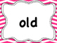 Dolch List Sight Words / High Frequency Words: Zig Zag - M to Y