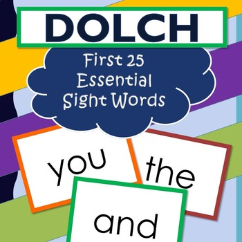 Dolch My First Words Book 25 Sight Words Kindergarten