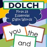Dolch My First Words Book 25 Sight Words Kindergarten
