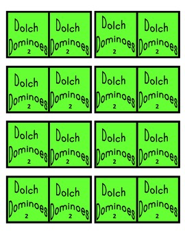 Dolch Noun Dominoes
