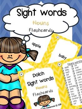 Sight Word Flashcards: Nouns
