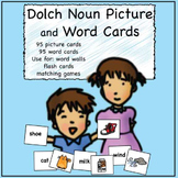 Sight Words Matching Picture and Word Cards