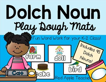 Dolch Noun Playdoh Mats for K-2