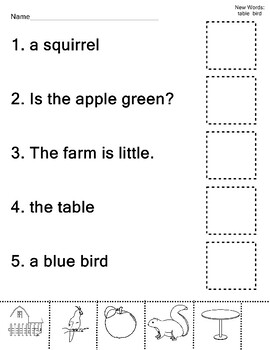 Dolch Nouns Sight Word Practice 20 Words 40 Worksheets