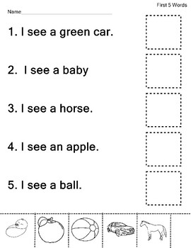 Dolch Nouns Sight Words Practice 25 Words  83 Worksheets