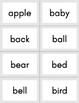 Dolch Noun Sight Word Flashcards