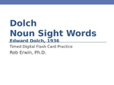 Dolch Noun Sight Words