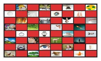Dolch Noun Site Words B-C-D-E-F-G-H-L-M-P-R-S-N-T-W Checkerboard Game