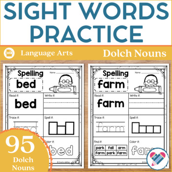 Dolch Nouns Practice