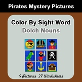 Dolch Nouns: Color by Sight Word - Pirates Mystery Pictures