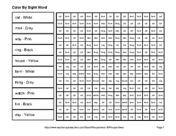 Dolch Nouns: Color by Sight Word - Robots Mystery Pictures