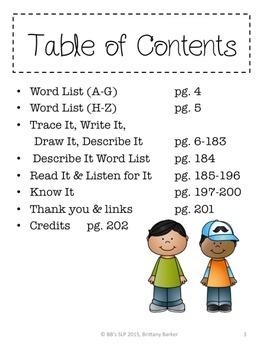 Sight Word Nouns: Language Activities