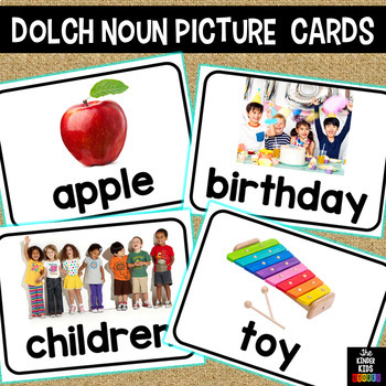 Dolch Nouns Picture Cards