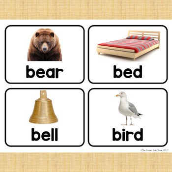 Sight Words Nouns Picture Cards