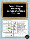 Dolch Nouns Reading Comprehension Puzzles
