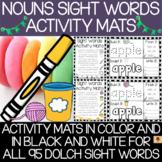 Dolch Nouns Sight Words Activity Mats Set
