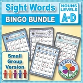 Nouns Sight Words Bingo: Digital & Print - Four Games for Small Groups
