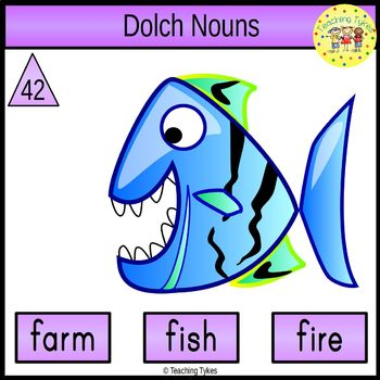 Dolch Nouns Task Cards