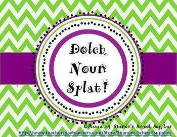Dolch Nouns Splat! Board Game