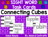 Dolch Nouns Task Cards: Connecting Cubes