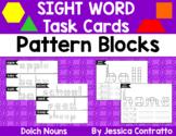 Dolch Nouns Task Cards: Pattern Blocks
