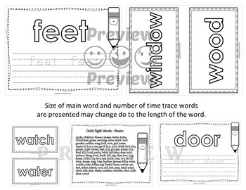 Dolch Nouns Word Mats - Build and Write