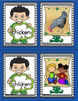 95 Dolch Nouns Words and Pictures for March