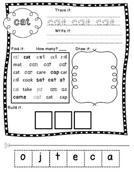Dolch Nouns for Grades K- 2