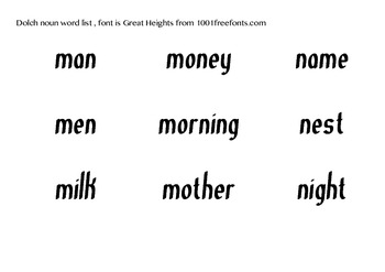 Dolch Nouns sight words