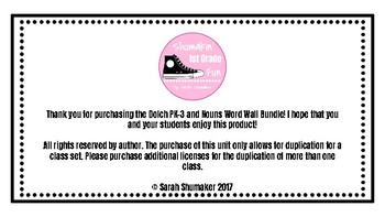 Dolch PK-3 and Nouns Word Wall Bundle