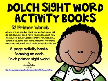 Dolch PRIMER Sight Word Practice Books - 52 8-Page Books in ALL!