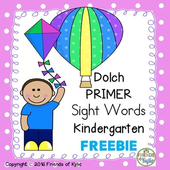 Dolch PRIMER Sight Words Full Set Flash Cards FREEBIE