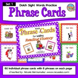 Dolch Sight Words Fluency Practice - Phrase Cards Set 1