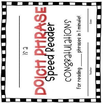 Dolch Phrase Flashcard Set