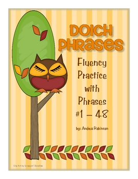 Dolch Phrases Fluency Practice #1 - 48
